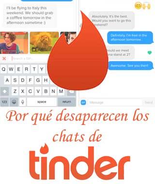Las conversaciones de Tinder desaparecen