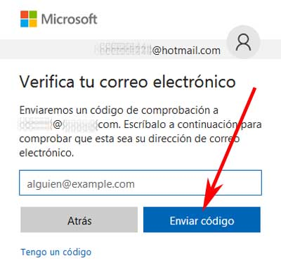 Acreditar identidad en Hotmail