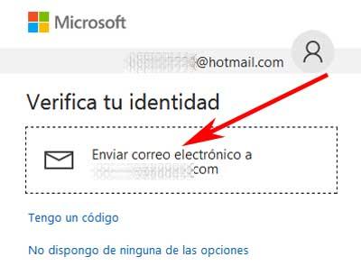 Acreditar identidad en el correo Hotmail