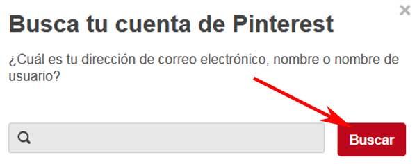 Cómo recuperar una cuenta de Pinterest