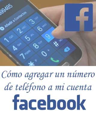 Poner un número de teléfono en Facebook