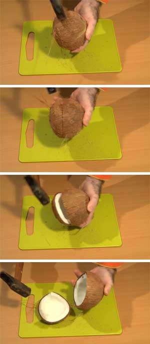 Cómo partir un coco