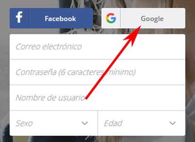 Registrarse en Deezer con Google