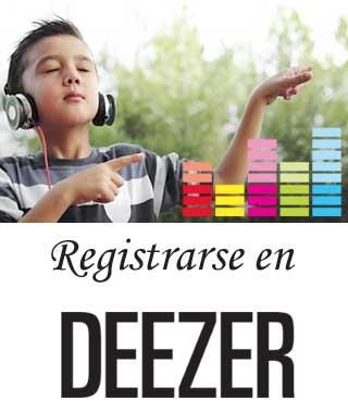 Tener una cuenta en Deezer