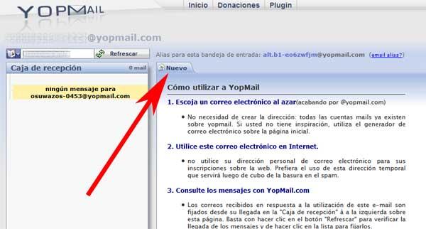 Cómo enviar mensajes en el correo temporal Yopmail