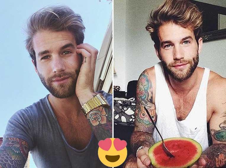 Fotos de hombres alemanes bellos y atractivos.