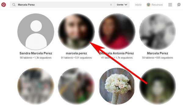 Cómo buscar amigos en Pinterest