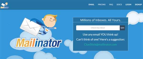 Crear una cuenta de correo en Mailinator