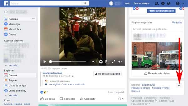 Entrar a mi Facebook en español