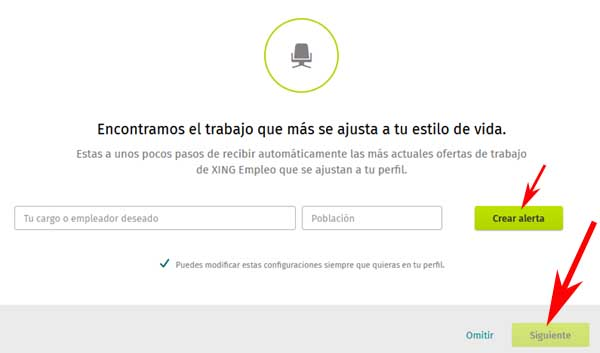 Crear una cuenta en XING