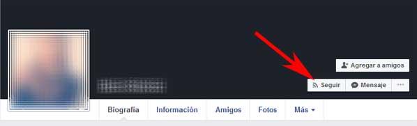 Cómo poder seguir a alguien en Facebook sin que sepa