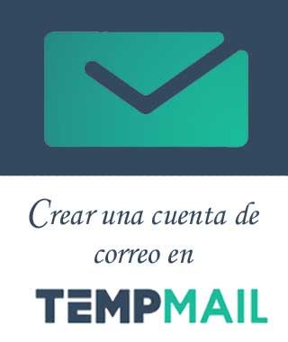 Crear correo temporal y anónimo Temp Mail