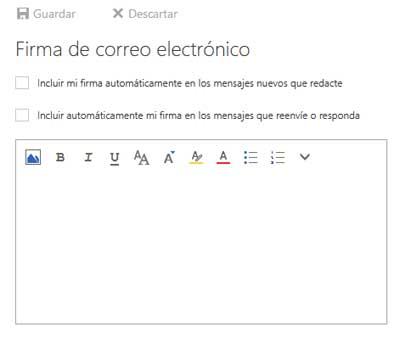 Cómo poner una firma en mi correo Hotmail