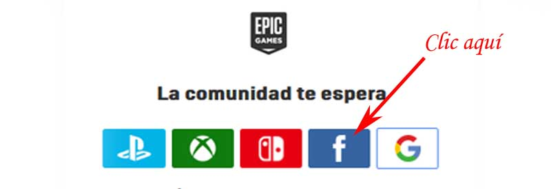 sign in to my epic games account with Facebook