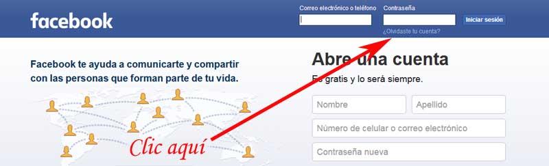 re-enter facebook