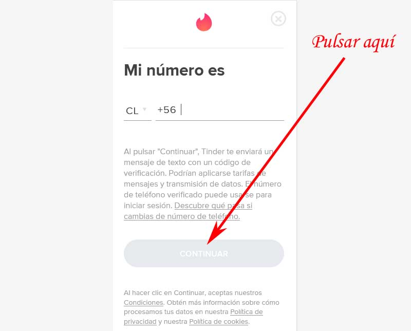 how to change my phone number in Tinder