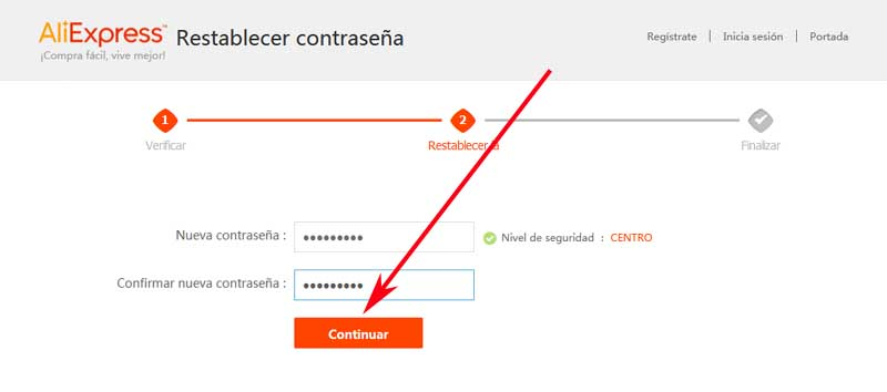 how to recover an aliexpress account