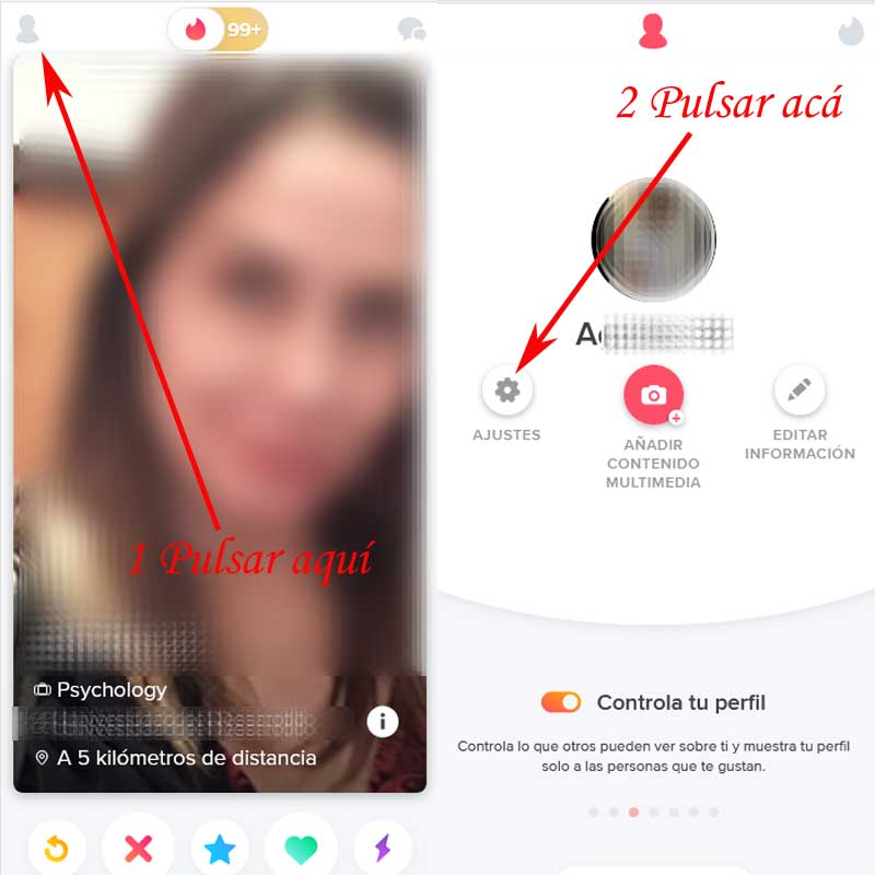 change the data in Tinder