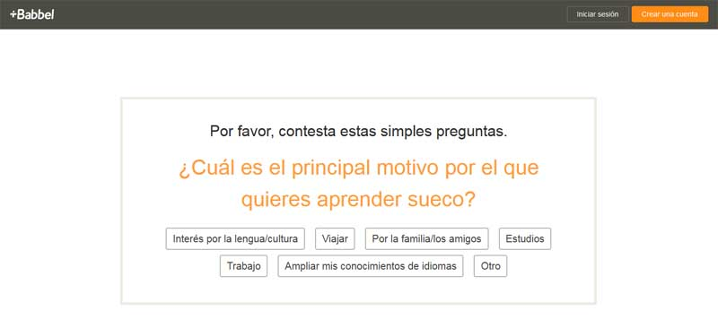 create an account on babbel