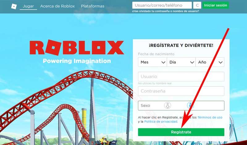 Crear Una Cuenta En Roblox Gratis Registrarse En Roblox
