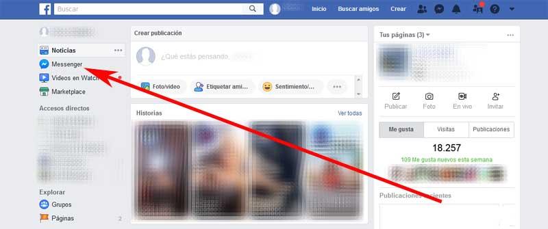 enter Facebook Messenger