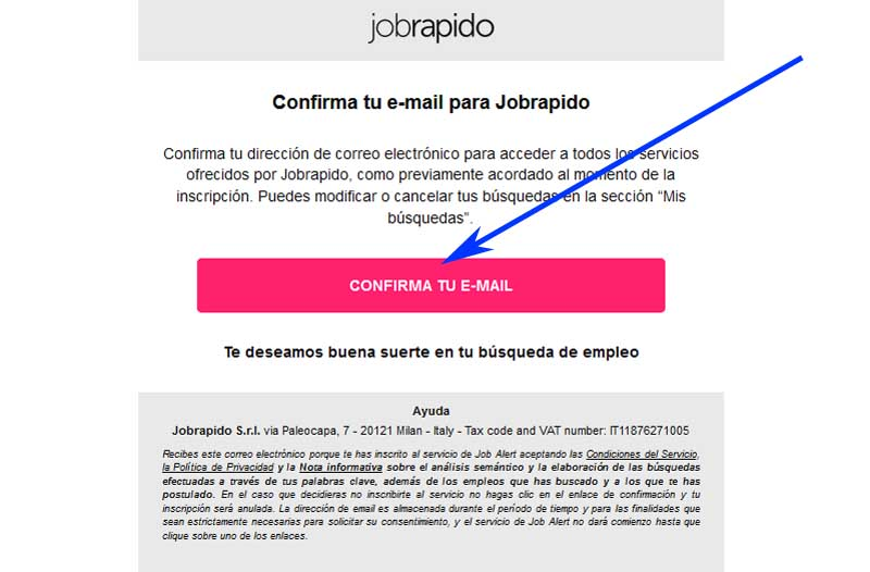 register on jobrapido
