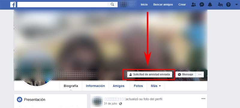 how to delete a friend request on facebook