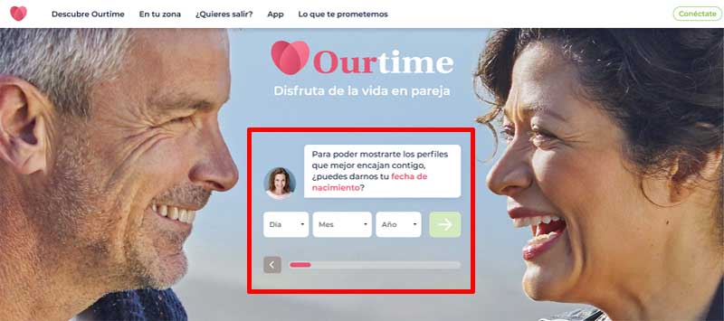 create ourtime account