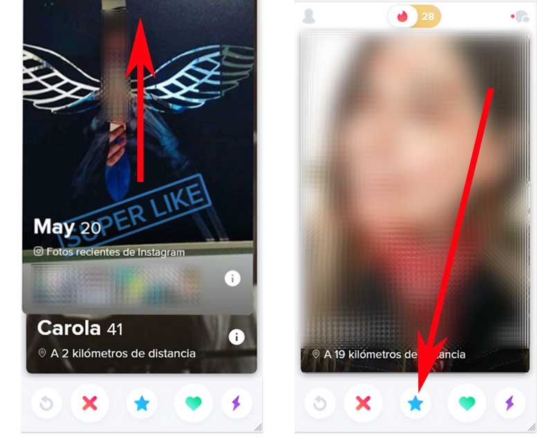 what does the blue star on the tinder mean