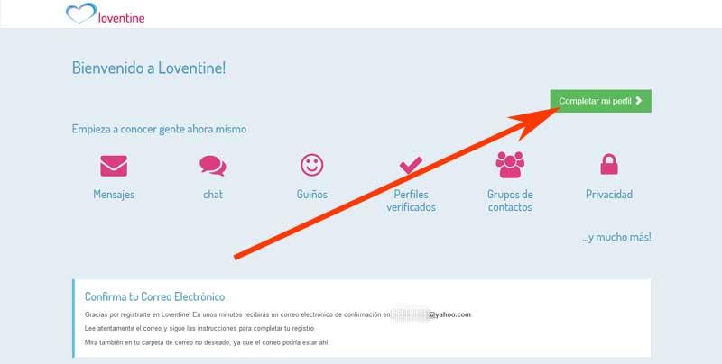 take a registration profile in loventine