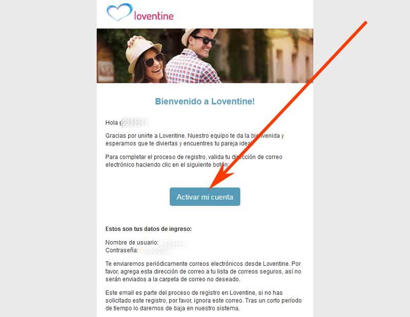 confirm correspondence in loventine