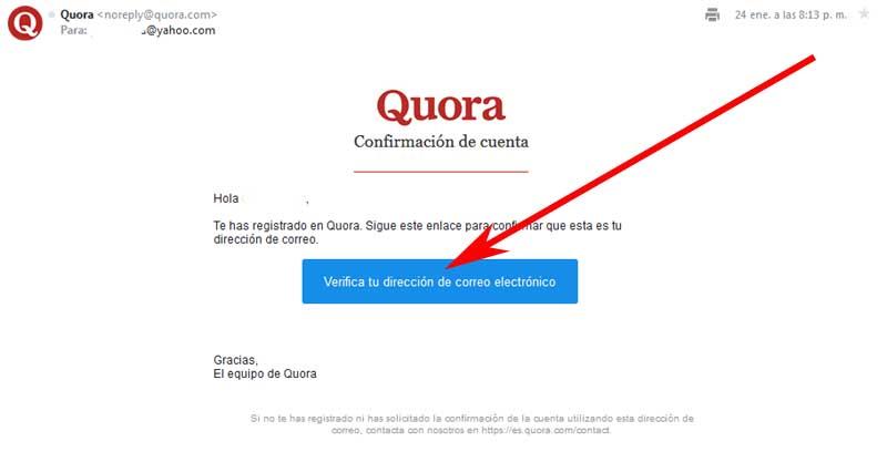 create a quora account