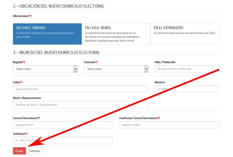 How to change your electoral address in Chile online