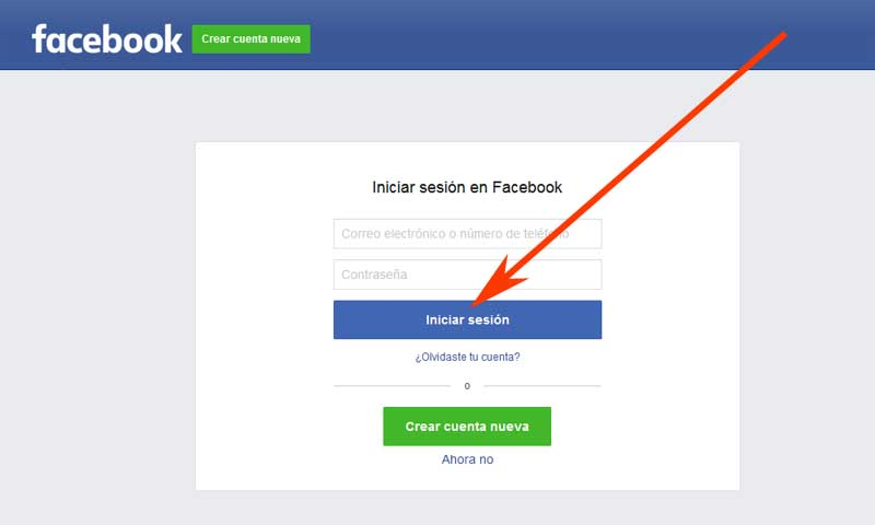 create a loventine account with Facebook