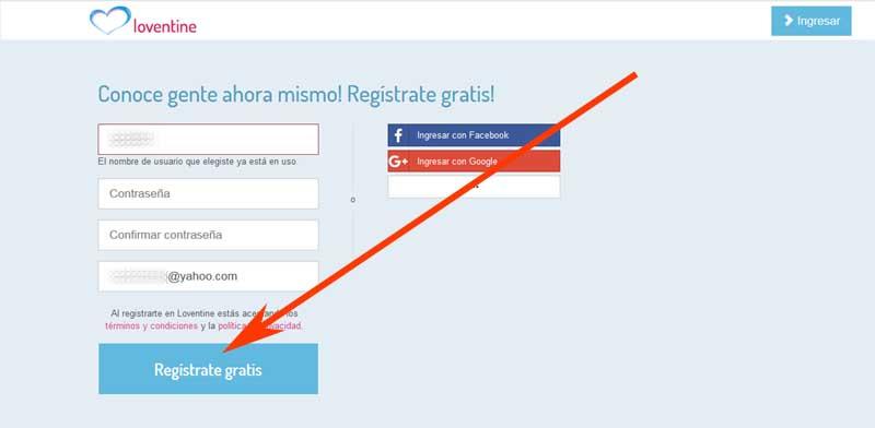 register in loventine