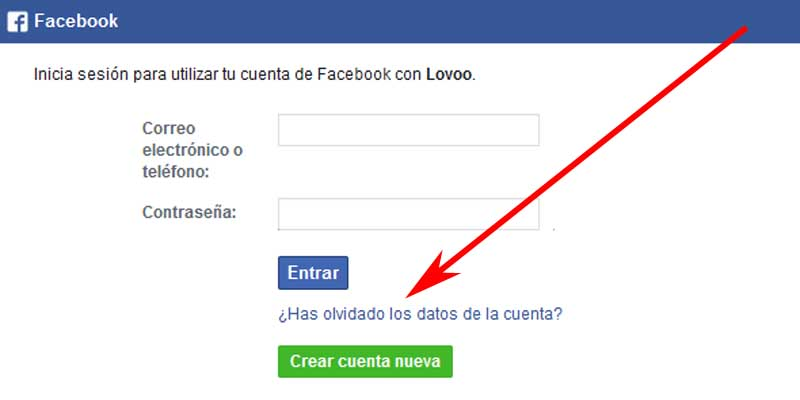 recover lovoo account related to facebook