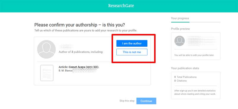 the researchgate registration process