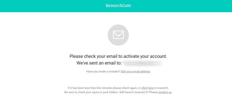 create a researchgate account