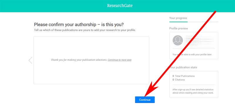 registration form on researchgate
