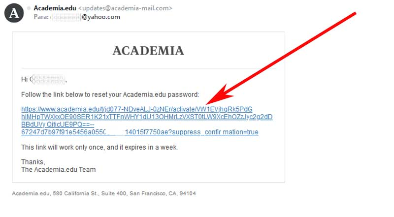 restablecer cuenta de academia
