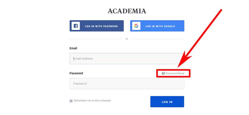 how to recover an academy account