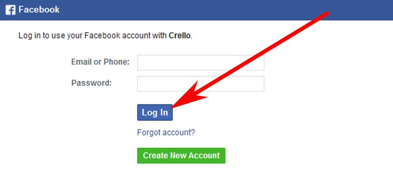 Sign in with Facebook to connect with crello