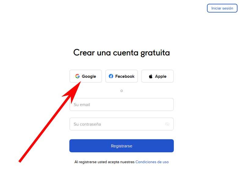 create a crello account with Gmail
