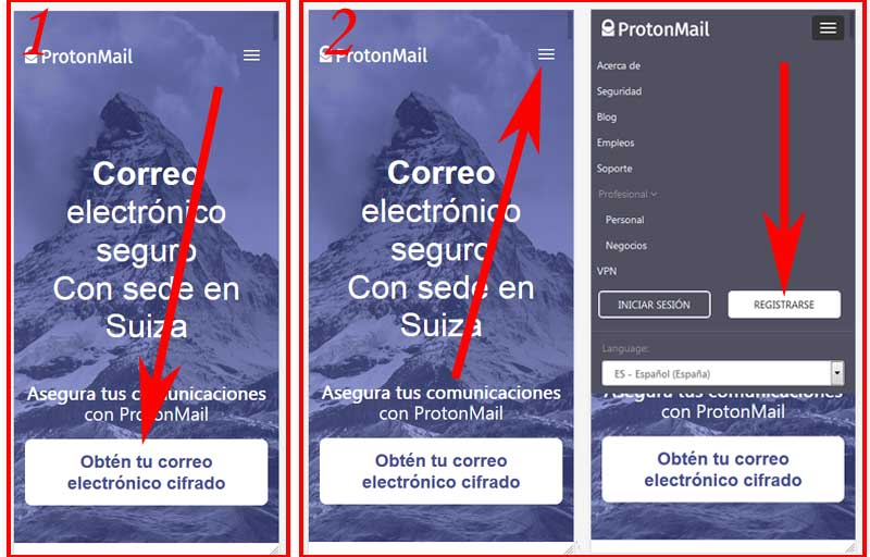 create a protonmail account